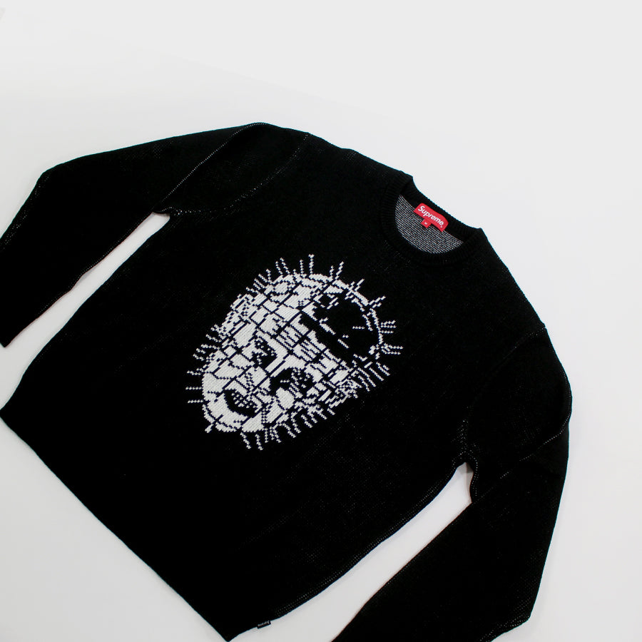 SUPREME, Grey Hellraiser Crewneck Sz. M and L