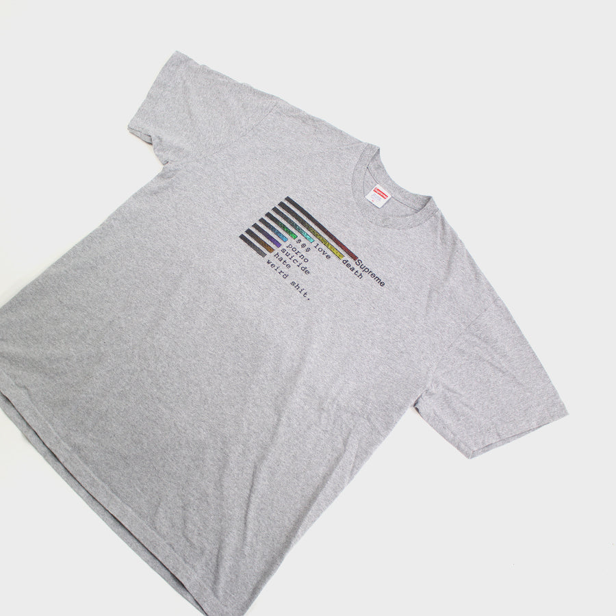 Supreme, Grey Chart Tee Sz. XL