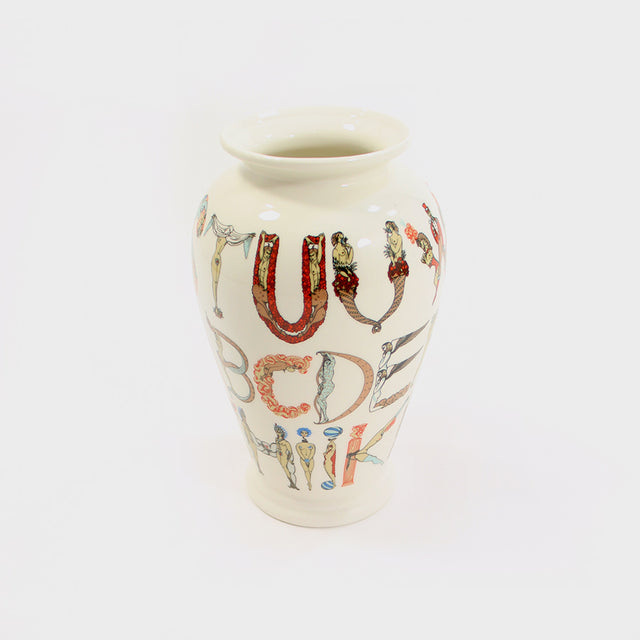 Supreme, White Alphabet Vase
