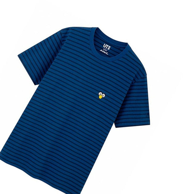 KAWS Uniqlo Striped Tee