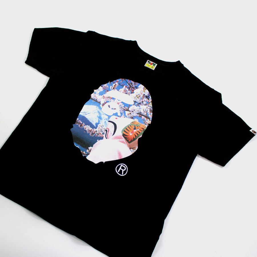 BAPE, Black Photo Ape Head Tee Sz.XL