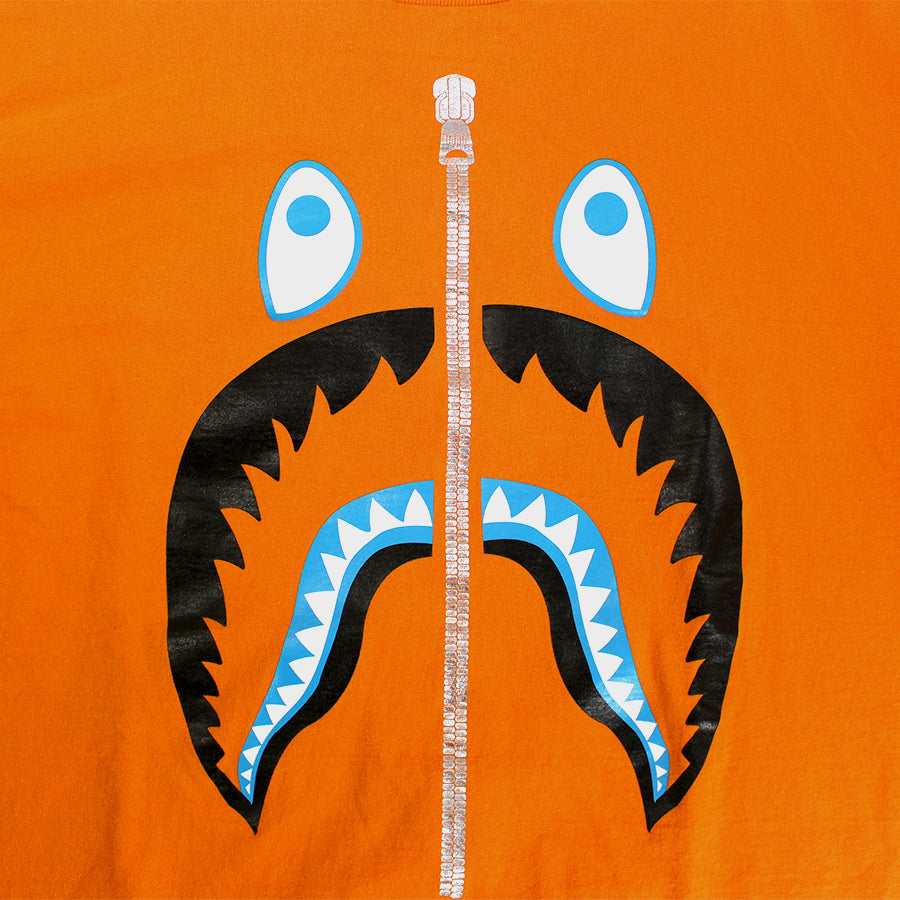 Bape, Orange Shark Tee - Sz. L