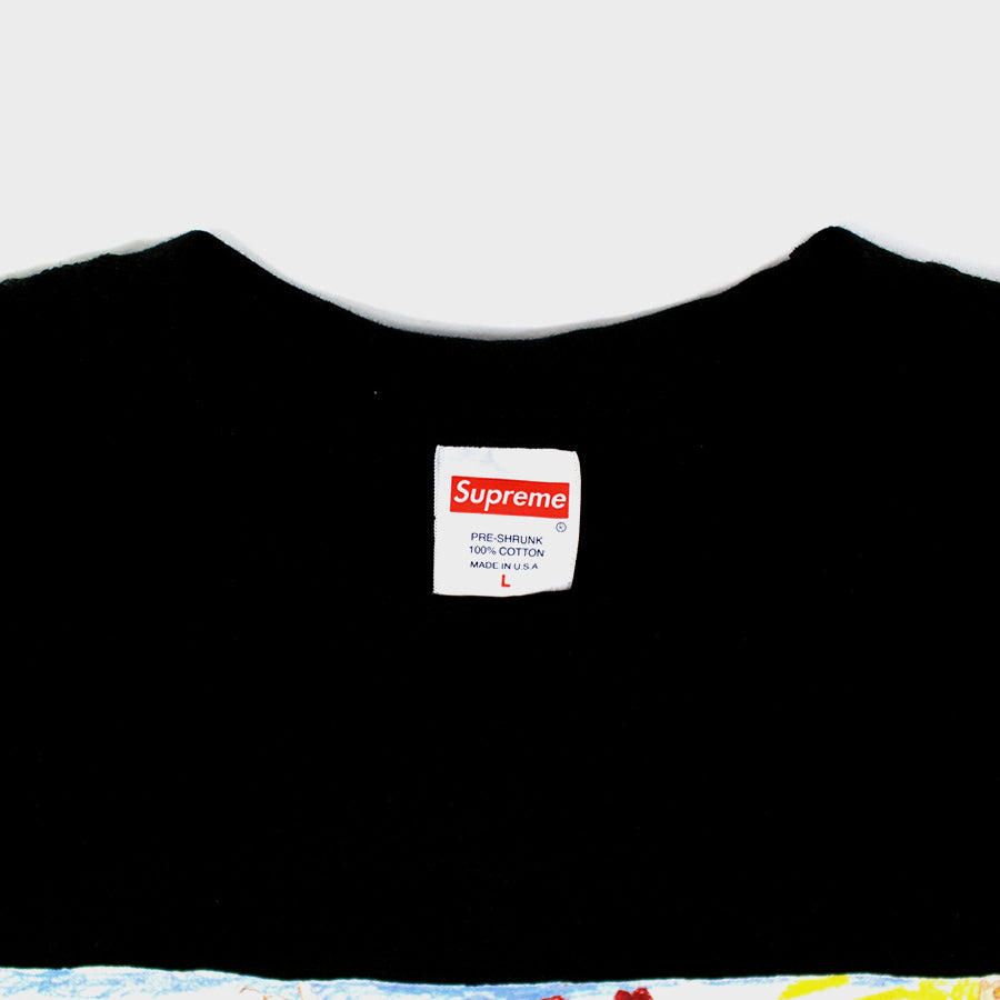 Supreme, Black Kids Tee Sz. L