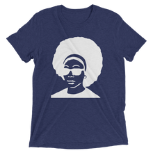 White Afro Short sleeve Tri-blend T-shirt