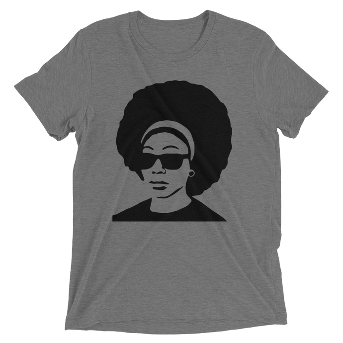Black Afro Short Sleeve Tri-blend T-shirt