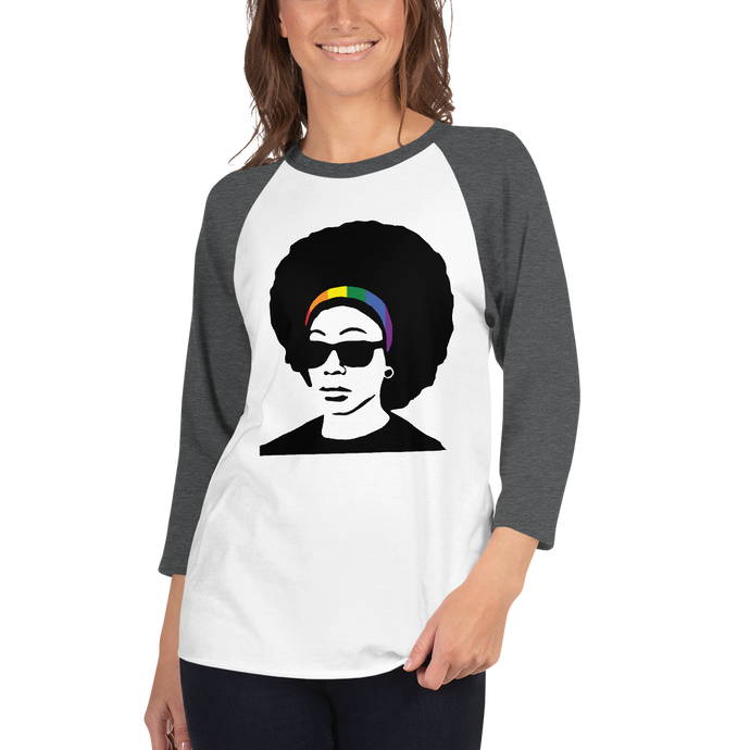 Rainbow Headband 3/4 sleeve raglan shirt