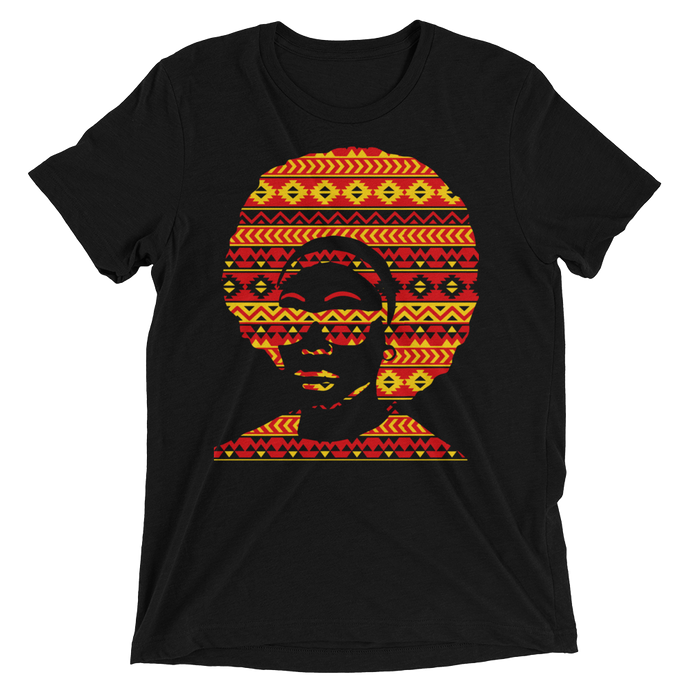 Tribal Pattern Afro DJ T-shirt