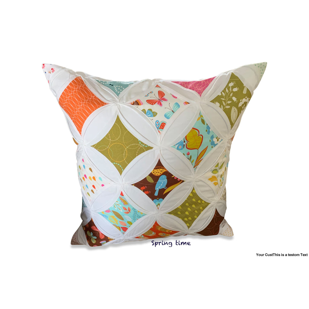 Cathedral Window Pillow Cover - Large - Spring Time
