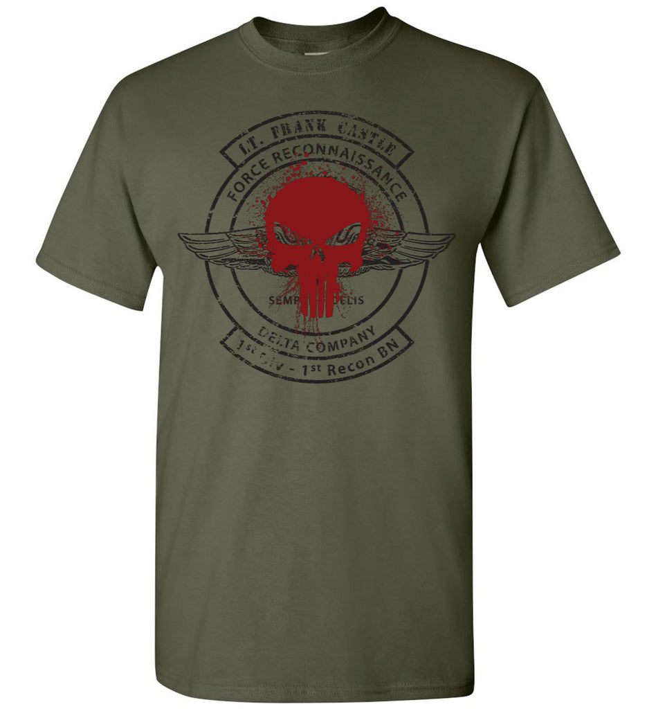 Punisher Inspired - Lt. Frank Castle Force Recon Shirt