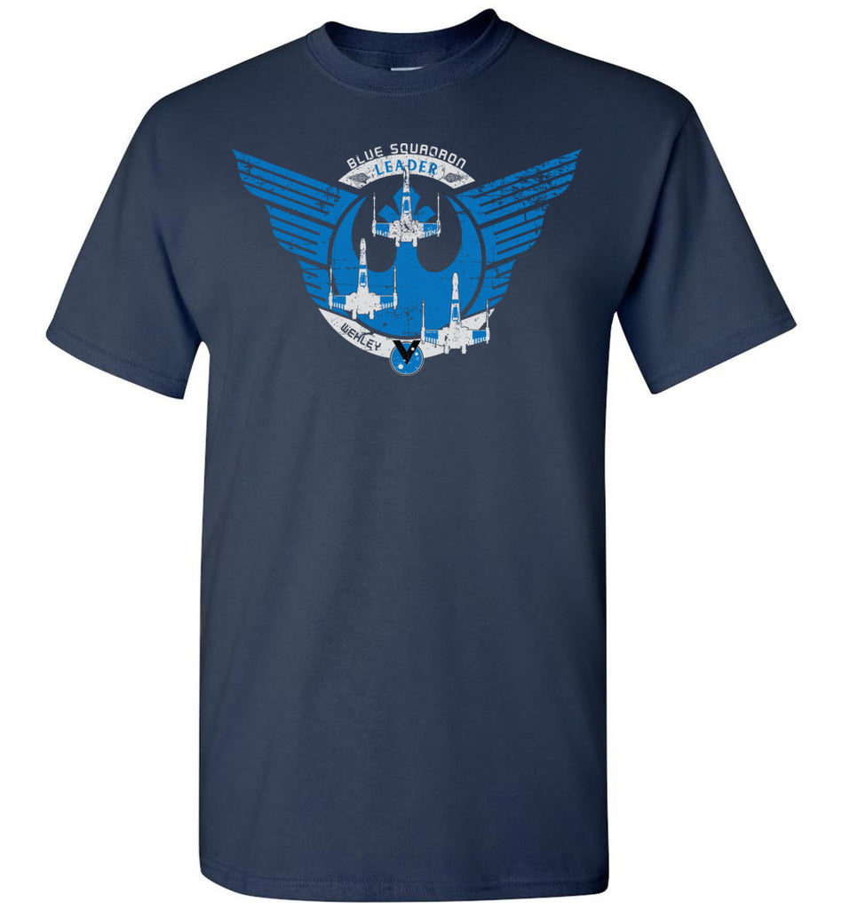 Star Wars Inspired: Blue Squadron - Blue Leader Crew Flight Shirt