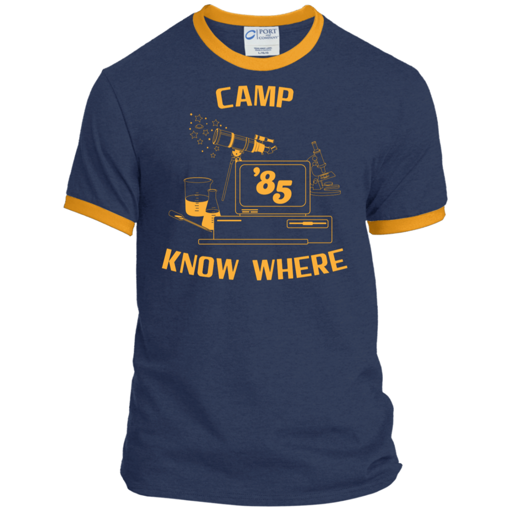 "Dustin's ""Camp Know Where"" Ringer Tee From Stranger Things Season 3 (Variation)"