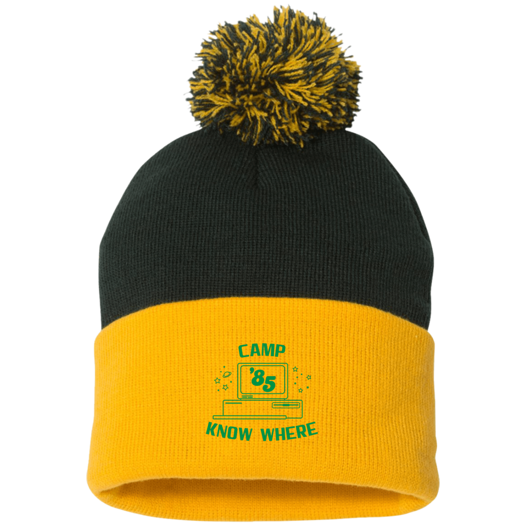 "Dustin's ""Camp Know Where"" Pom Pom Cap From Stranger Things Season 3 (Variation)"