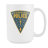 "Stranger Things Inspired ""Hawkins Police"" Hopper's 15oz Mug"