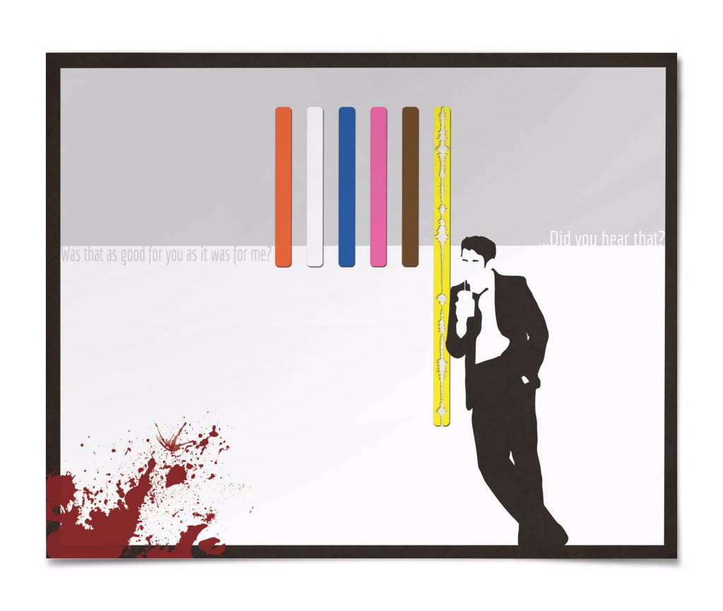 "Digital Soundform inspired by Reservoir Dogs, ""...did you hear that"" 20 x 16 poster"