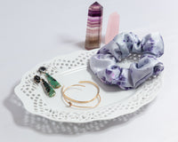 Purple Carnation Silk Scrunchie