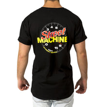 Street Machine Black t-shit with Tacho design - back