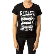 Street Machine Black Womens t-shirt Front