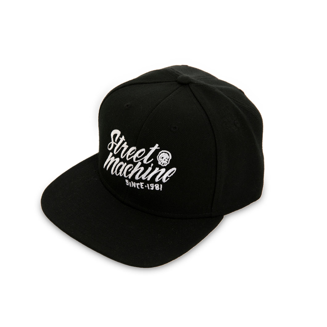 Black Street Machine Snap Back Cap