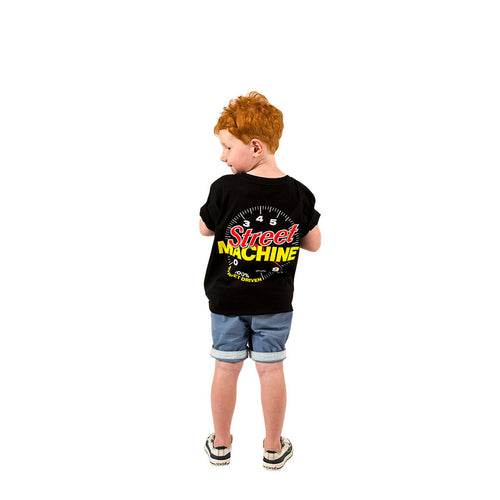 Street Machine kids black t-shirt back