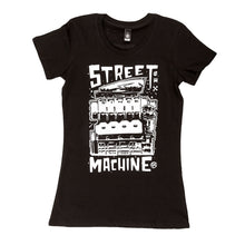 Street Machine Black Womens t-shirt front flatlay