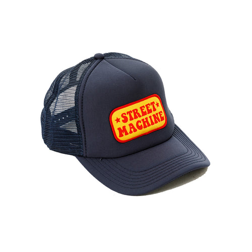 Street Machine blue trucker cap
