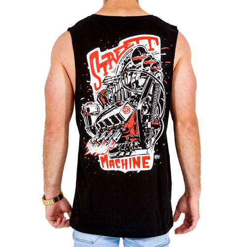 Street Machine Beastly Big Block Unisex tank top men's back