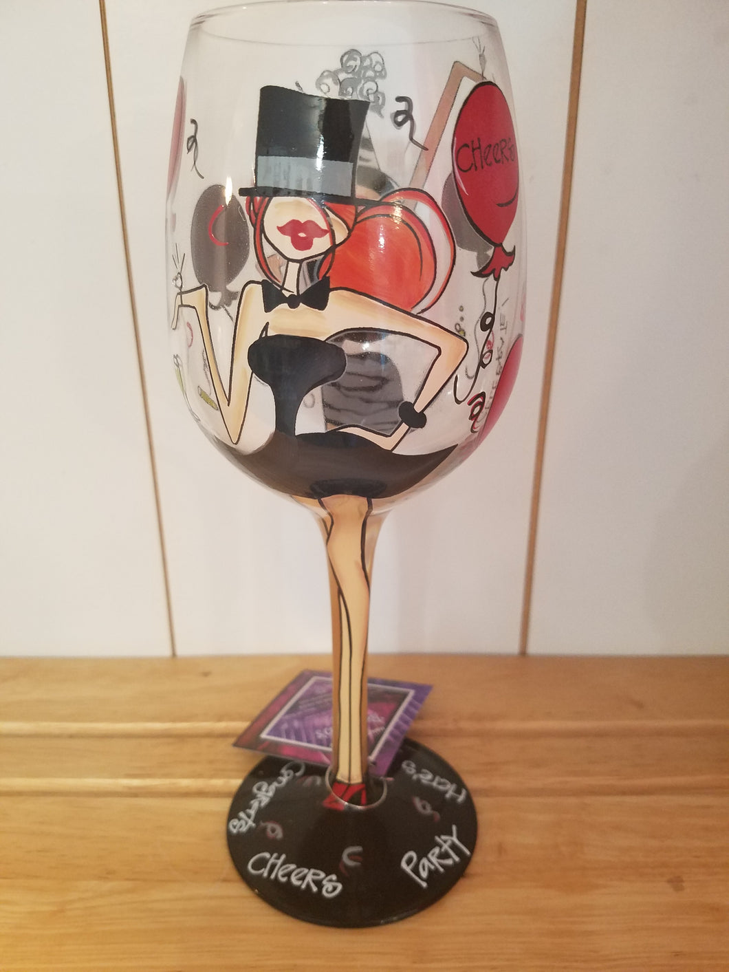 Celebrate Wine Glass