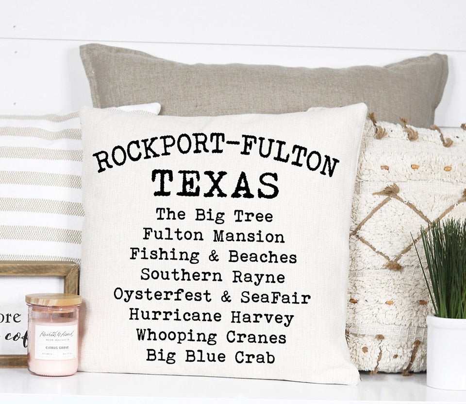 Town Pillow - Rockport Fulton