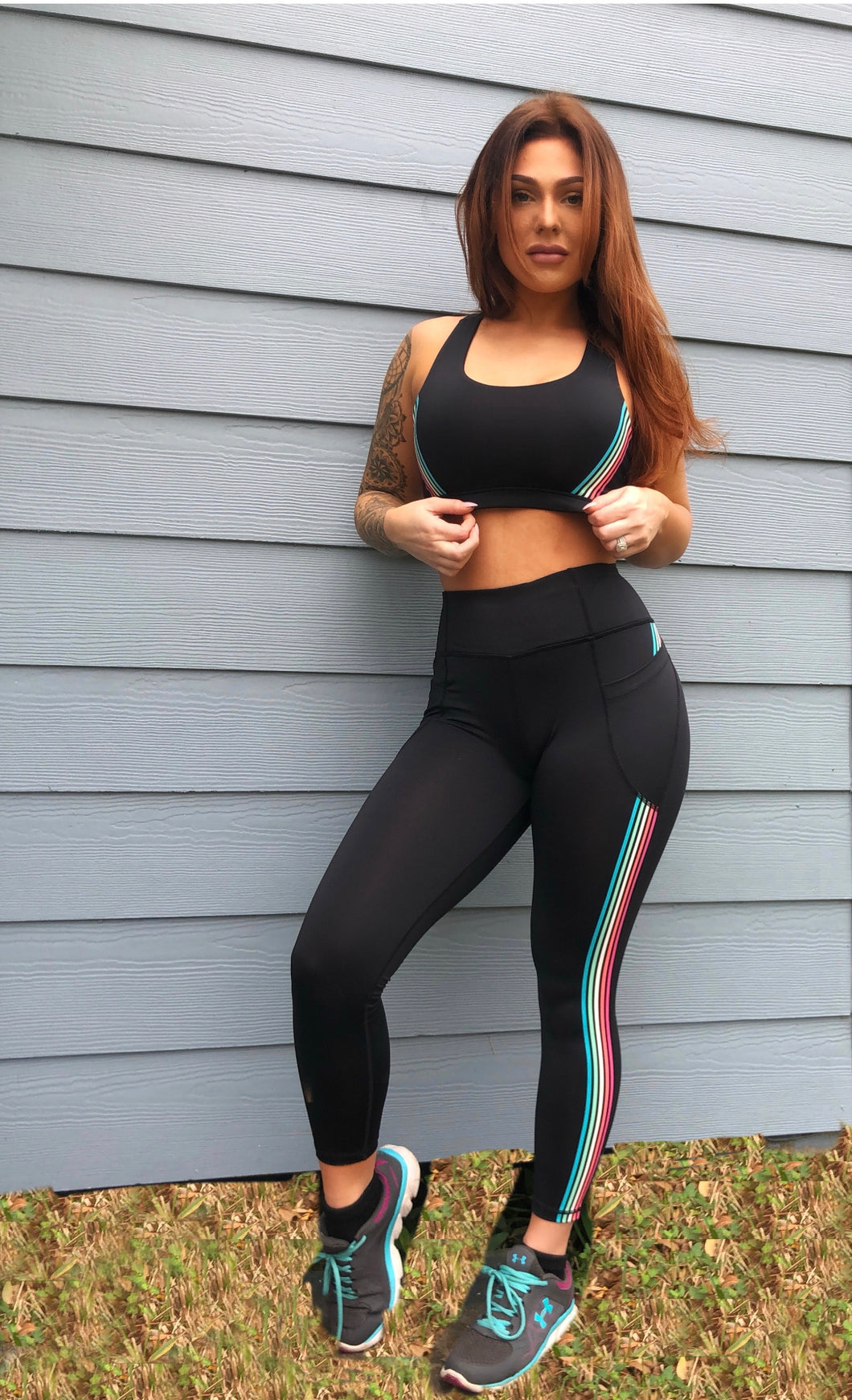 JLB Black Stripe Activewear Leggings
