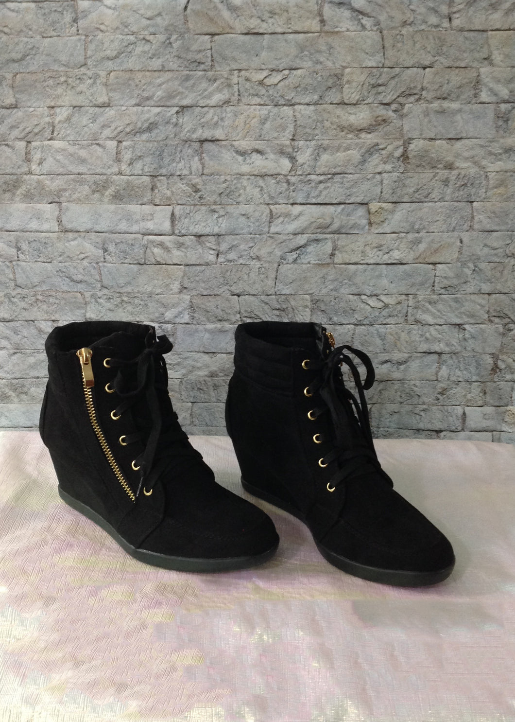 Forever Wedge Booties