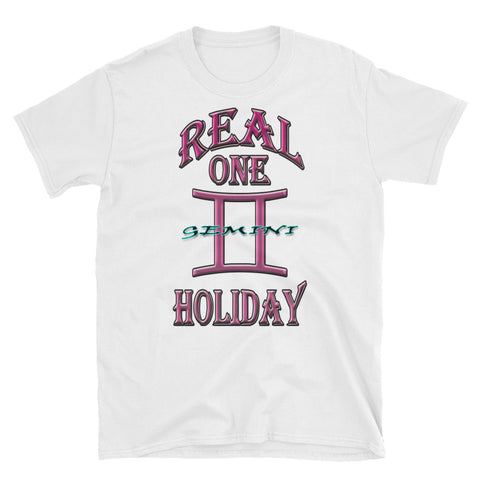 GEMINI REAL ONE HOLIDAY PINK PRINT Short-Sleeve Unisex T-Shirt