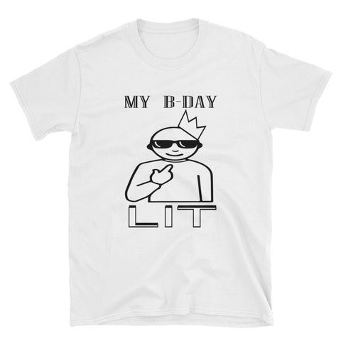 B-DAY LIT-Short-Sleeve Unisex T-Shirt