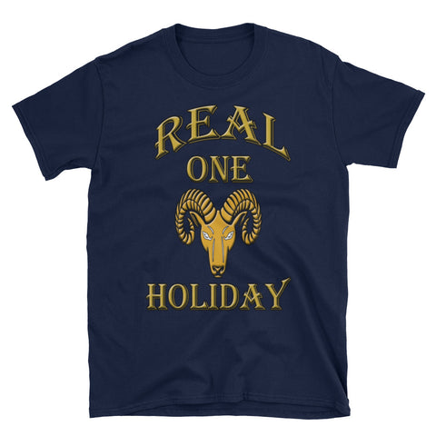Aries Real One Holiday Short-Sleeve Unisex T-Shirt