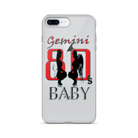 GEMINI 80s BABY THE GOOD AND BAD iPhone Case