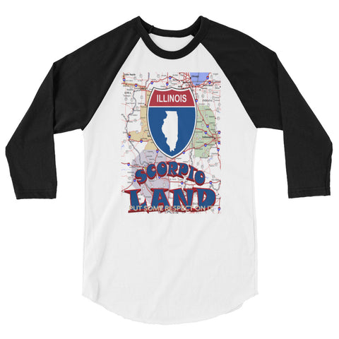 SCORPIO-ILLINOIS 3/4 sleeve raglan shirt