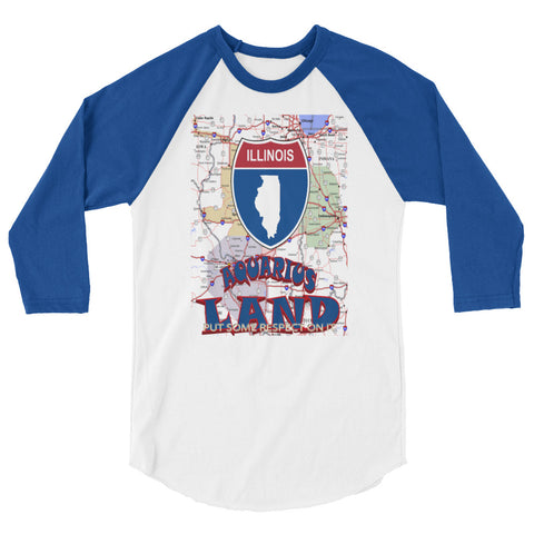 AQUARIUS-ILLINOIS 3/4 sleeve raglan shirt