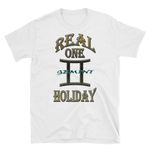 GEMINI REAL ONE HOLIDAY Short-Sleeve Unisex T-Shirt