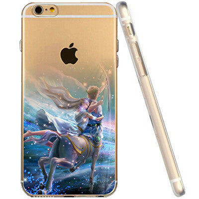 iPhone 6 4.7'' Soft Transparent Ultra Thin 12 Zodiac Phone Case Cover for iPhone 6 Case Beautiful Birthday Gifts