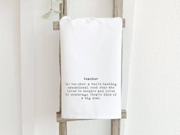 Teacher Definition Cotton Tea Towel