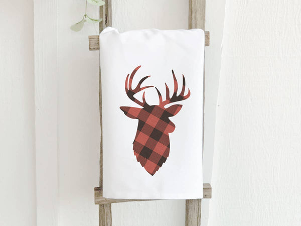 Plaid Stag Cotton Tea Towel