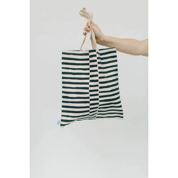 Staggered Lines Flat Tote Bag