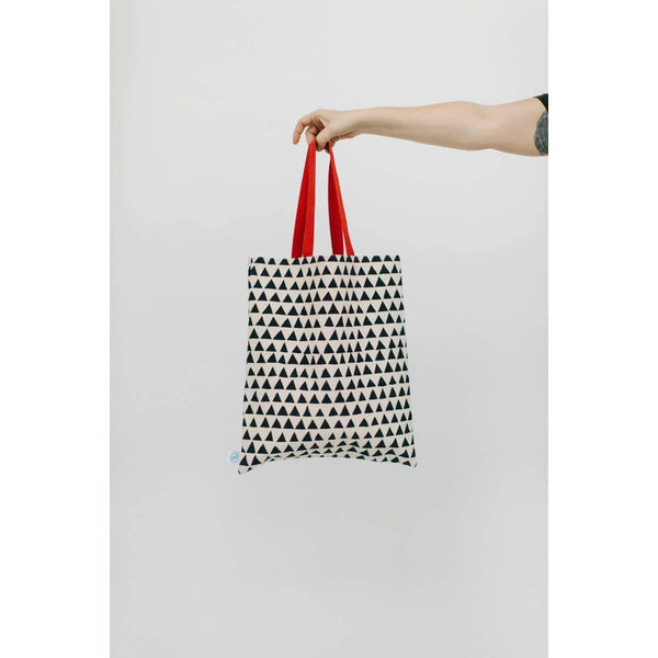 Triangles Flat Tote Bag