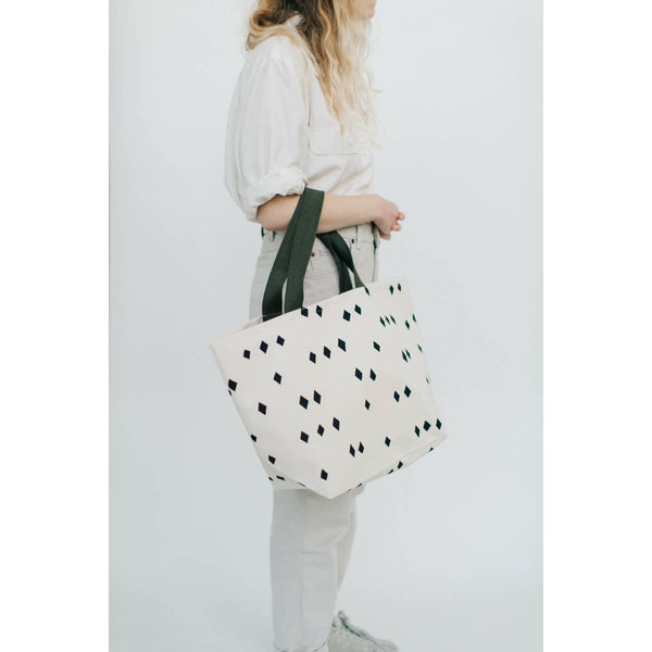 Scattered Diamonds Wide Tote Bag