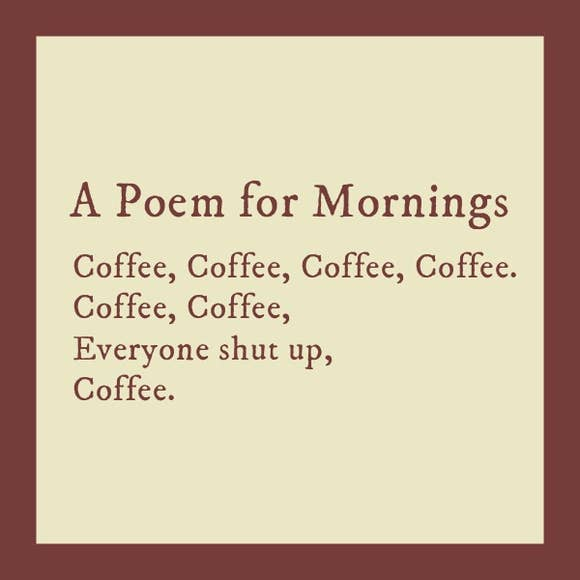 Poem for Mornings Coaster