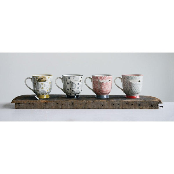 Stoneware Mug w/ Tea Bag Holder Set