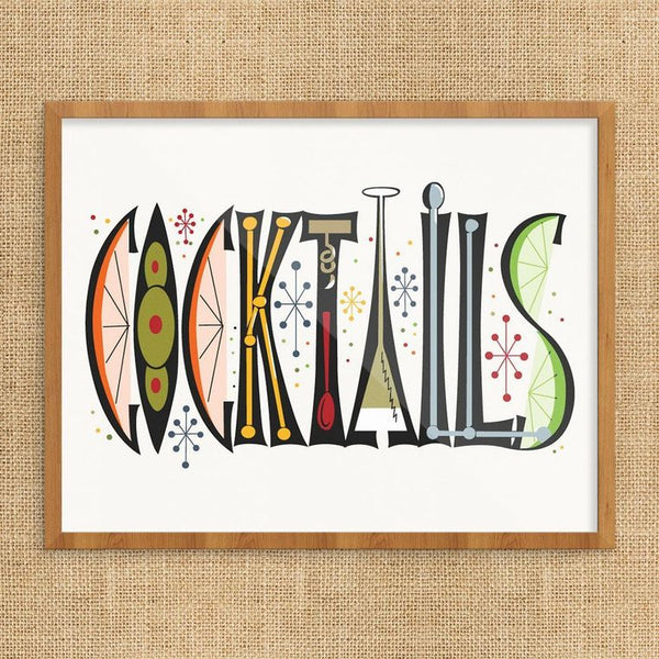 Retro Cocktails Print