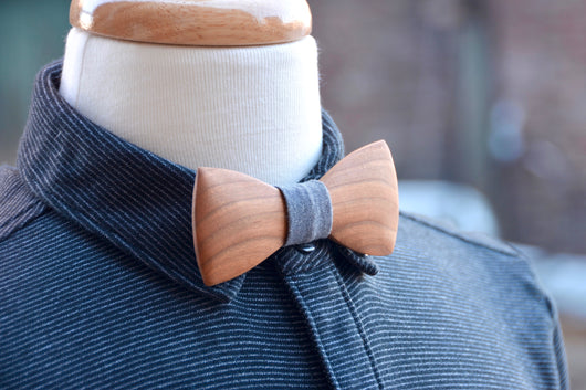 Domestic hardwood wooden bow tie crooked branch studio ccuart Images