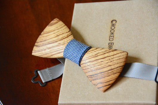 Zebrawood wooden bow tie crooked branch studio previous slide ccuart Images