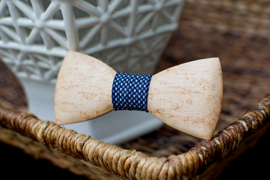 Birdseye Maple Wooden Bow Tie
