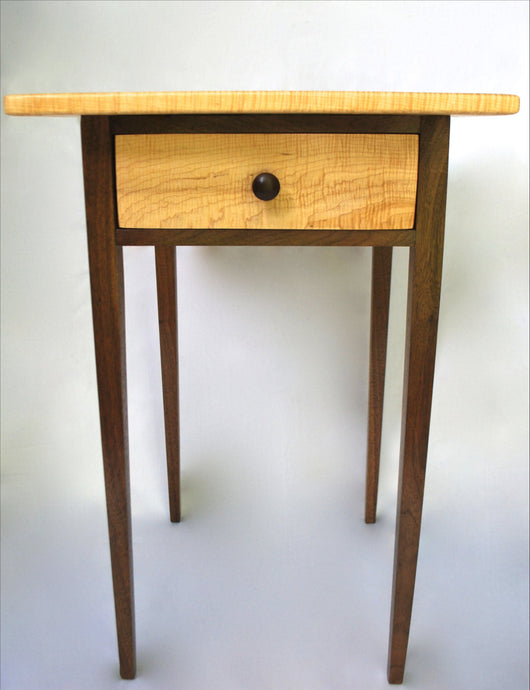 Walnut and Figured Maple End Table